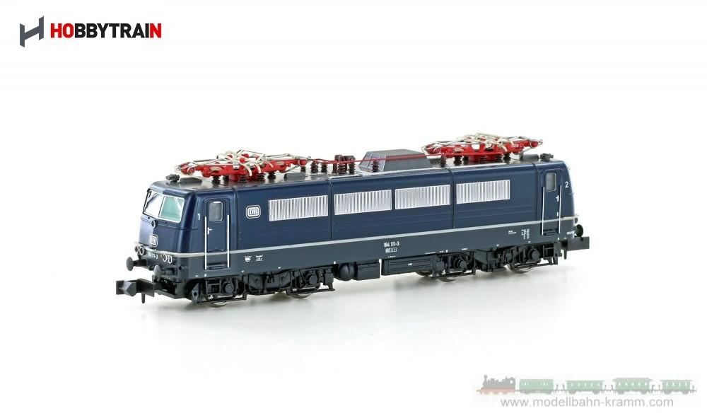 N E-Lok BR 184 111-3 der DB, Epoche IV, in stahlblau
