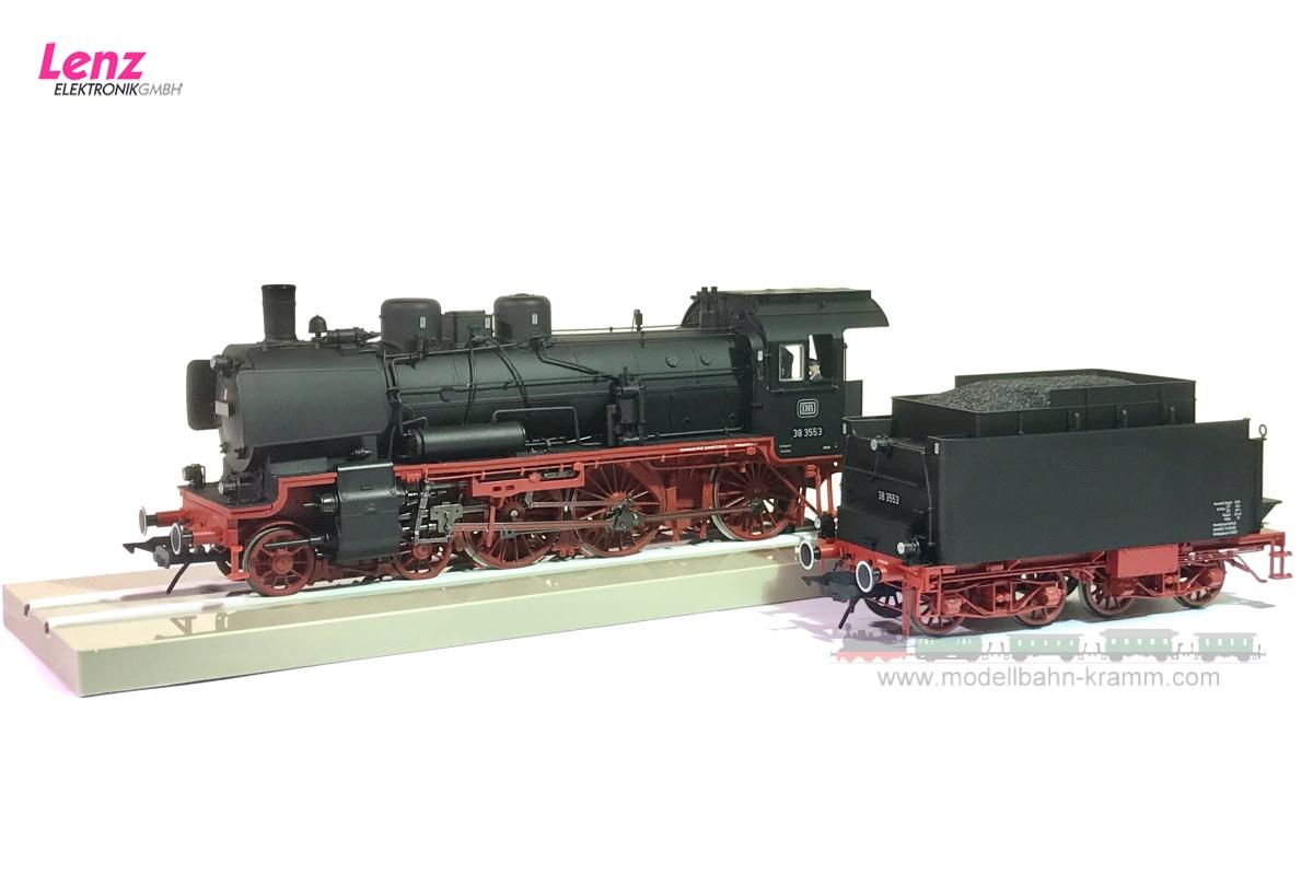 Dampflok BR 38 3553 der DB für die Epoche 3, mit Kastentender, 0-Spur
