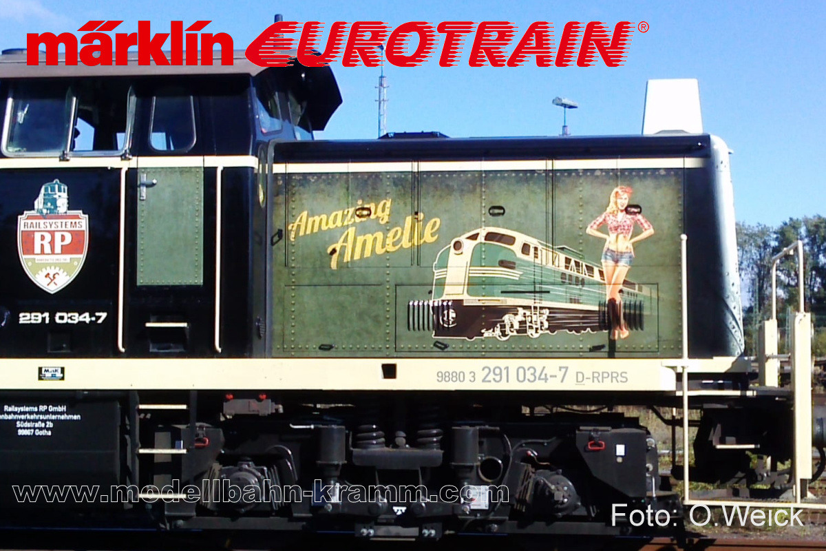"H0 Diesel-Rangierlok BR 291 Railsystems RP ""Amazing Amelie"""