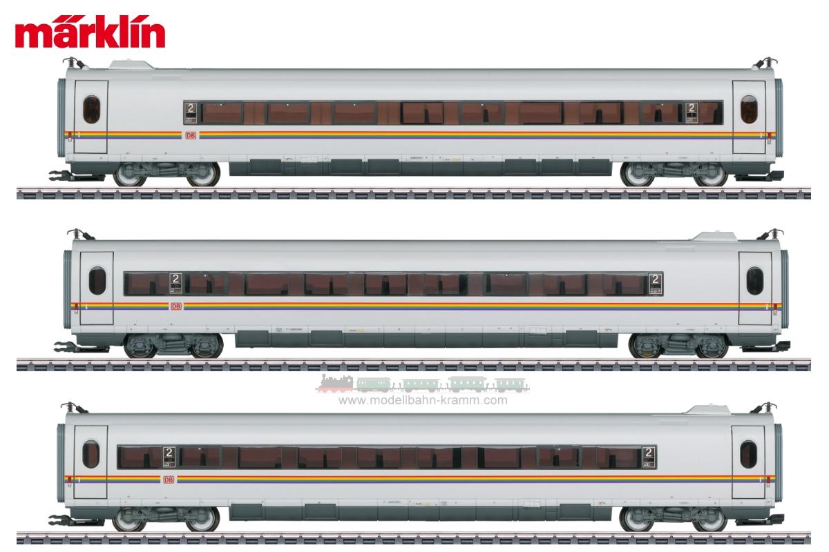 H0 Digital, ICE 3 Ergänzungswagenset Railbow ICE, 3-teilig DBAG