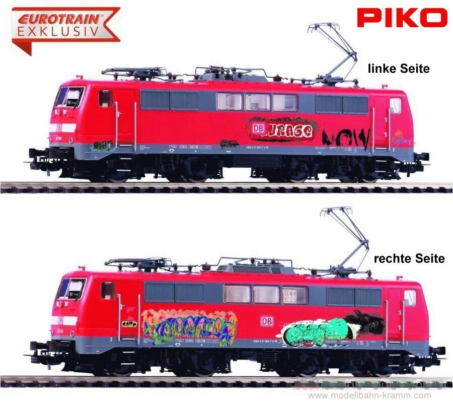 H0 DC analog E-Lok BR 111 Graffiti DB-AG