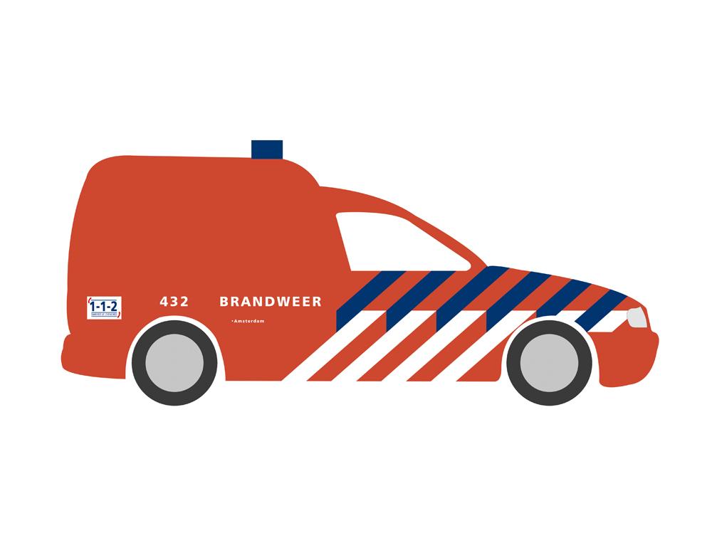 N VW Caddy Brandweer (NL)